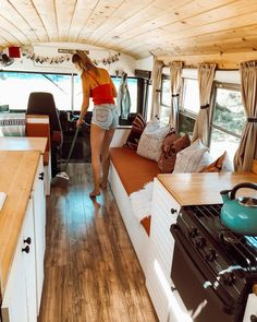 beautiful wooden interior for RV