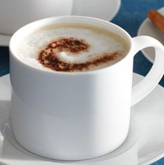 A café au lait is nothing more than a drink made with half coffee and half milk. Chocolate Almond Café au Lait tastes a little like a candy bar. Not a bad thing.