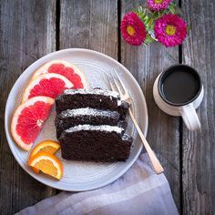 Carob Cake: If you haven't tried carob, this easy recipe will give you a reason to explore it. Think of it like a healthy and light brownie. #carob #vegan