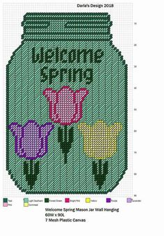Welcome Spring Mason Jar