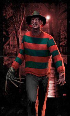 Best Horror Movies, Classic Horror Movies, Scary Movies, Freddy Krueger, Horror Icons, Horror Movie Posters, Arte Horror, Horror Art, Mortal Kombat