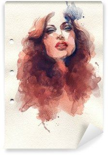 Abstract Woman Portrait Wall Mural Pixers We Live To Change