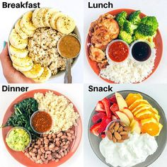 Three Days of Eating . Three Days of Eating Day 1 Breakfast 1 c oats scoops vanilla Whey 1 tbsp almond butter 2 tbsp hemp seeds Lunch oz grilled chicken thighs c white rice 1 c broccoli 2 tbsp teriyaki sauce Dinner c brown rice 1 c homema Healthy Meal Prep, Healthy Snacks, Healthy Eating, Healthy Recipes, Delicious Recipes, Healthy Breakfast For Weight Loss, Protein Recipes, Keto Snacks, Healthy Weight