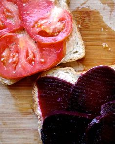 Beet & Heirloom Tomato Sandwich | Recipes for Adventure