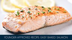 For an ultra-easy dinner that's packed with the kind of healthy omega oils that make skin glow, serve this YOUNGER-approved baked salmon recipe alongside a green salad or steamed veggies. Ingredients: 1 lb. wild-caught salmon 2-3 organic lemons Olive oil PepperDirections: Line a glass baking dish with sliced lemons. Lay a 1 lb. salmon filet … Continue reading Younger-Approved Recipe: Easy Baked Salmon →