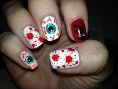 Halloween finger nails 2013