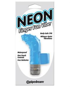 Get just the right touch of satisfaction with this Pipedream Neon Finger Fun Vibe. Don't let it's small size fool you though-this lil' lover packs plenty of pulsating power. Turn the dial on the powerful micro bullet and let the incredible vibrations whisk you away. The soft, phthalate-free TPR is body-safe, hygienic, and feels great against your skin. The stretchy ring wraps around your finger and allows you to get the right angle every time! Try it in the spa or shower and turn ...