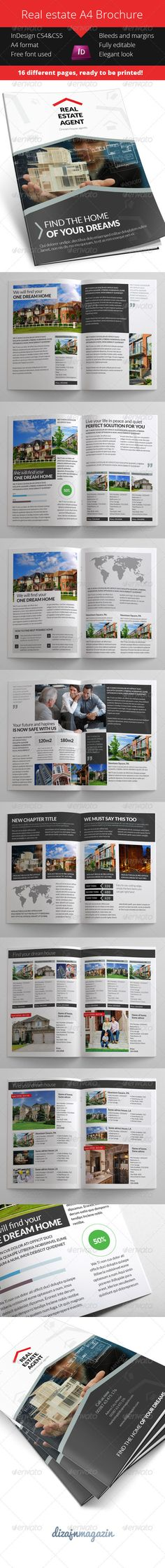9 best Real Estate Brochures images on Pinterest   Brochures  Real     Real Estate Brochure Product Catalog     InDesign INDD  estate  booklet      Available here