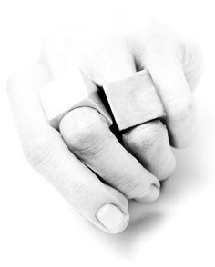 Amy Glenn - love the simple square rings!!