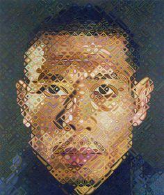 #ARTIST Chuck Close - Zhang Huan - oil on canvas