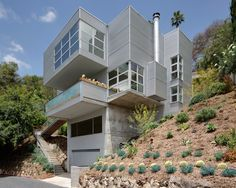 Industrial Modern House at Glencairn in Los Feliz by Boswell Construction #buildboswell