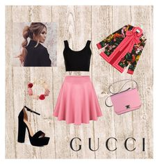 """""""Presenting the Gucci Garden Exclusive Collection: Contest Entry"""" by ajlakukic ❤ liked on Polyvore featuring Gucci, Calvin Klein Collection, Boohoo, Oscar de la Renta and gucci"""