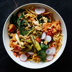 Ramen Noodle Bowl with Escarole and Spicy Tofu Crumbles Recipe on Yummly. @yummly #recipe