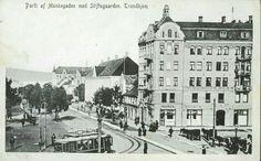 Sør-Trøndelag fylke Trondheim TRONDHJEM Munkegaden med trikk Utg Küenholdt tidlig 1900-tall