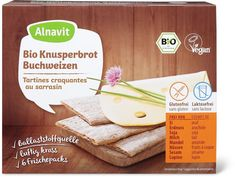 Alnavit Knusperbrot Buchweizen Bio Vegan, Sans Gluten Sans Lactose, Bread, Food, Buckwheat, Almond, Low Fiber Foods, Glutenfree, Brot
