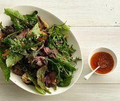 Grilled Steak Salad with Tomato Vinaigrette Recipe  at Epicurious.com