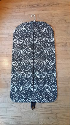 Black and Cream Medallion Hanging Garment Bag, Garment Bag, Weekender by CarryItWell on Etsy Rebecca Brown, Peg Bag, Etsy Cards, College Gifts, Garment Bags, Dog Show, Grosgrain Ribbon, Pattern Making, Bridesmaid Gifts