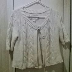American Eagle outfitters white  sweater button  up cardigan  size  large American Eagle Outfitters Sweaters