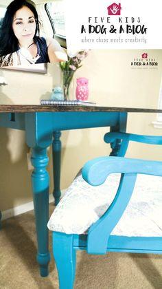 Tranquil - Velvet Finishes Shabby Chic Wall Decor, Shabby Chic Kitchen, Shabby Chic Furniture, Turquoise Painted Furniture, Distressed Furniture Painting, Simply Shabby Chic, Shabby Chic Style, Blue Furniture Inspiration, Ikea Dining Room