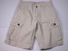 American Eagle Outfitters Zipper Fly Mens 28 Cargo Shorts Sand Beige  #AmericanEagleOutfitters #Cargo