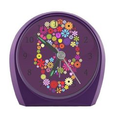 Cartoon Flowers Skull Alarm Clock