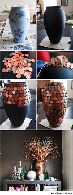 DIY Penny Vase.  on imgfave