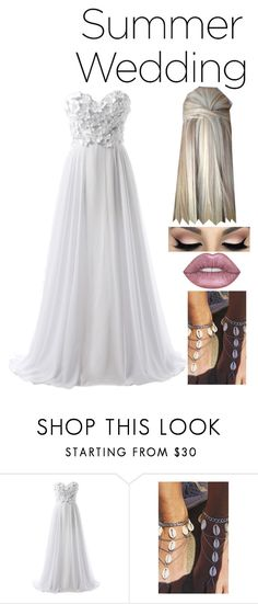 """Wedding"" by galaxy-trash ❤ liked on Polyvore featuring Lovelock Jewels and Lime Crime"