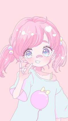 Kawaii anime drawings - see more about kawaii anime drawings Loli Kawaii, Kawaii Chibi, Kawaii Anime Girl, Anime Art Girl, Anime Girl Pink, Anime Girls, Pastel Anime, Pastel Art, Pastel Drawing