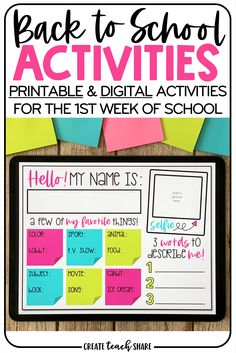Get To Know You Activities, First Day Of School Activities, 1st Day Of School, Beginning Of School, Morning Meeting Activities, School Classroom, Classroom Ideas, Online Classroom, Google Classroom