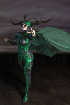 Character: Hela (Asgardian, Goddess of Death, Queen of Hel and Niffleheim)  Series: Thor/Avengers  Photo Taken: Comicpalooza 2015  Photo: Chuck Cook Photography    Costume made and modeled by BelleChere.