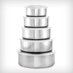 $5 For A 5-PC Stainless Steel Food Storage Set (Reg. 60 Dollars) http://www.discountqueens.com/5-5pc-stainless-steel-food-storage-set-reg-60/