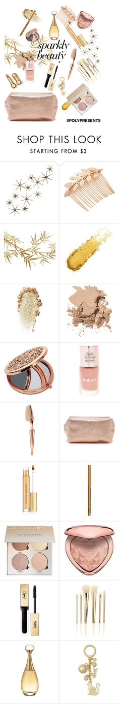"""#PolyPresents: Sparkly Beauty"" by annahlysis on Polyvore featuring beauty, Global Views, Avigail Adam, Bobbi Brown Cosmetics, Miss Selfridge, Forever 21, Kevyn Aucoin, NYX, Too Faced Cosmetics and Yves Saint Laurent"