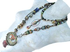Tribal bling. Handmade jewelry necklace.