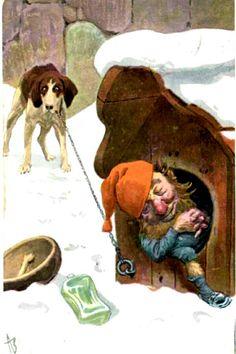 Julekort Andreas Bloch utg Mittet brukt 1908