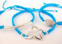 String Friendship Bracelets with Silver Metal by MaisJewelry