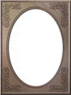 Photo Frames: Tall Traditional Oval, various colors and styles