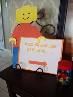 Guess how many lego's party game