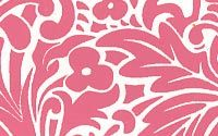 Island Damask Print Paper - Hibiscus