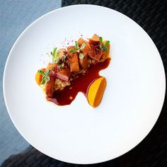 Recipes by KarloEvaristo Duck Breast Recipe, Chicken Plating, Sashimi, King Trumpet, Duck Recipes, Molecular Gastronomy, Food Presentation, Food Design, Food Plating