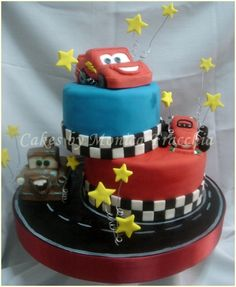 Cars Cake..Oh my gosh!! My son would FLIP!!!