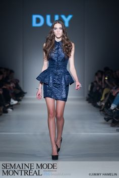 Gotta love this peplum dress.  From the runway at Montreal Fashion Week.
