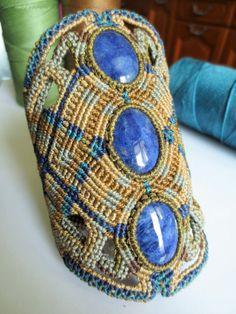 Sodalite Macrame Bracelet Handmade Creation by PapachoCreations, $95.00