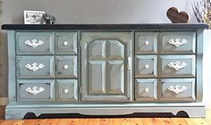 General Finishes Persian Blue Milk Paint Dresser   Created by Shannon Fuller