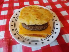 """A THM friendly breakfast biscuit. Using a """"Better than Red Lobster"""" biscuit  and sausage and cheese. Use the pin for the biscuits.The only difference is if you want them to be more bun like you add a less fat sour cream.I had fat free.A happy accident."""