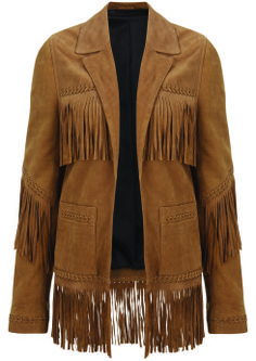 Suede Fringe Jacket, $420: Kate Moss for Topshop | Boca Raton Magazine