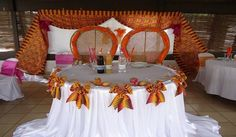 Simple reception decor for couples African Wedding Theme, African Theme, African Weddings, Traditional Wedding Decor, African Traditional Wedding, Reception Decorations, Event Decor, Africa Theme Party, Wedding Chairs