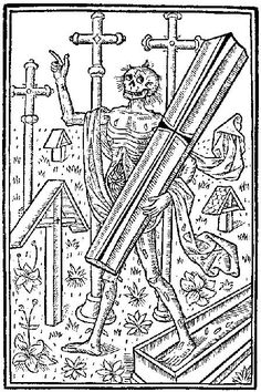 Medieval depiction of death and the deaths he/it has caused due to the Black Death