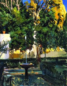 The Athenaeum -SOROLLA, Joaquin Spanish Realist-Impressionist (1863-1923)_The Sultana's Cypresses- 1910