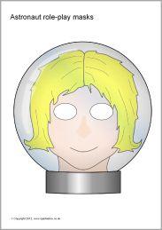 Astronaut role-play masks (SB7283) - SparkleBox
