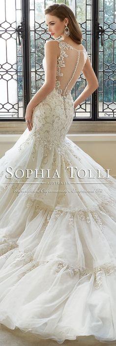 The Sophia Tolli Spring 2016 Wedding Dress Collection - Style No. Y11648 - Majestas  #laceweddingdress